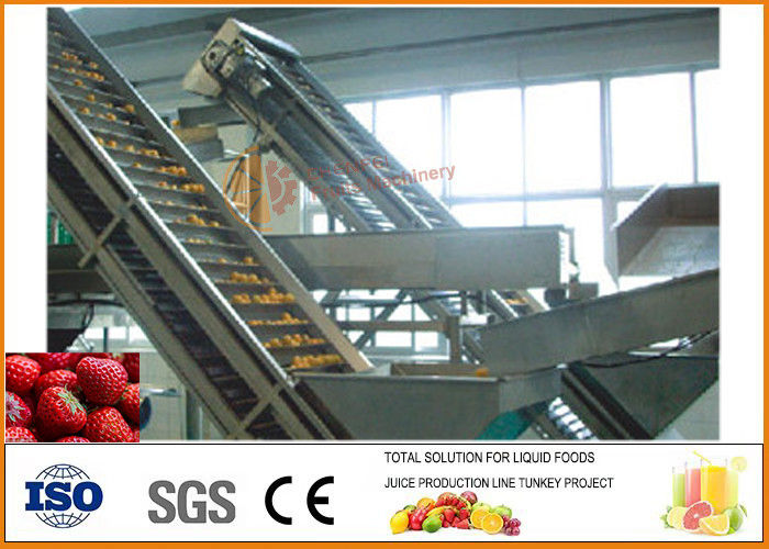 Turnkey Tomato Paste Processing Line , Fresh Strawberry Jam Production Processing Line