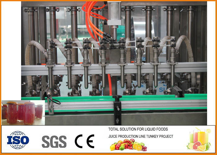1500 bottles Beverage Processing Plant , Jam Production Line Per Hour