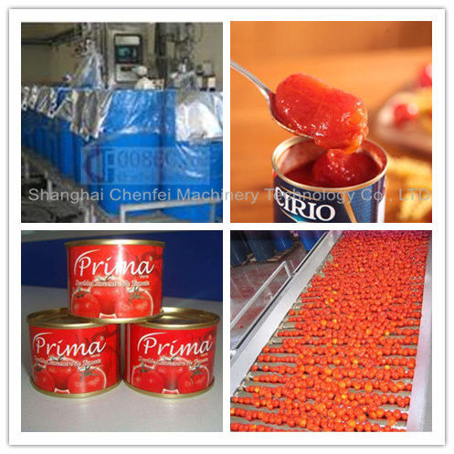 Complete Tin Can Ketchup Tomato Paste Production Line 1 Year Warranty