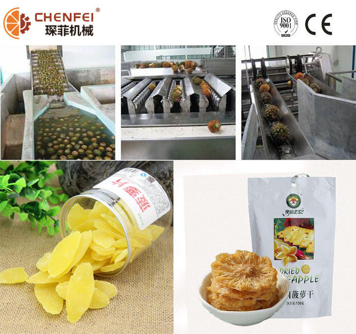 Automatic Dried Preserved Pineapple Processing Line Stable High Efficiency